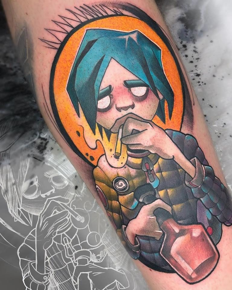 Tatuaje Neotradicional de Brandy