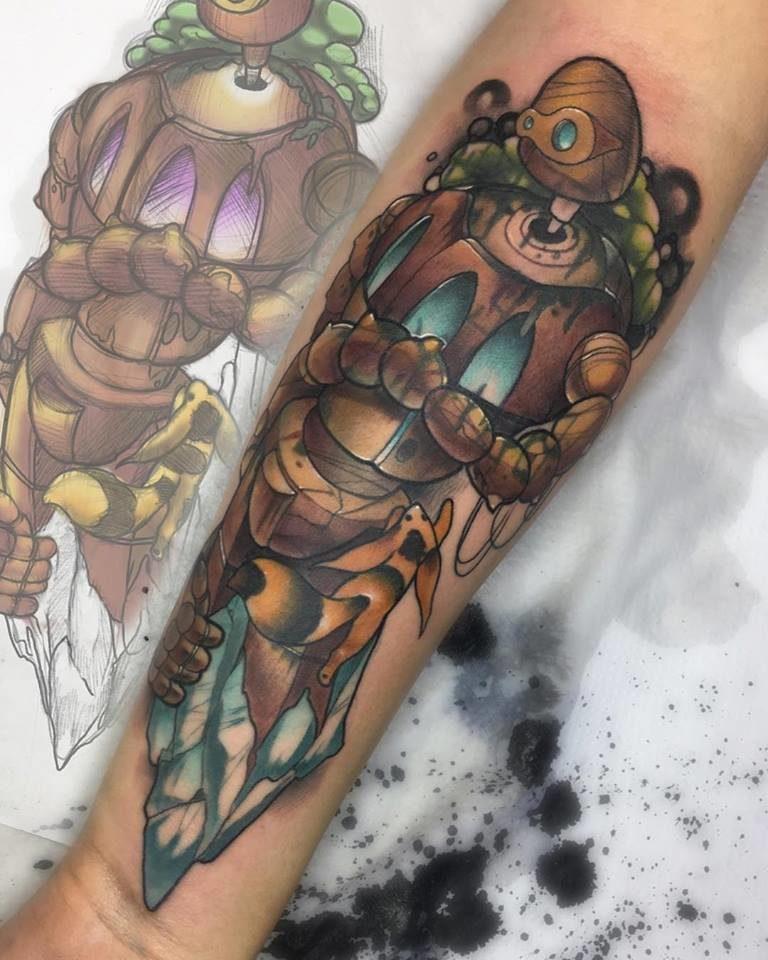 Neo Tradicional Tattoo by Jesus Posilio