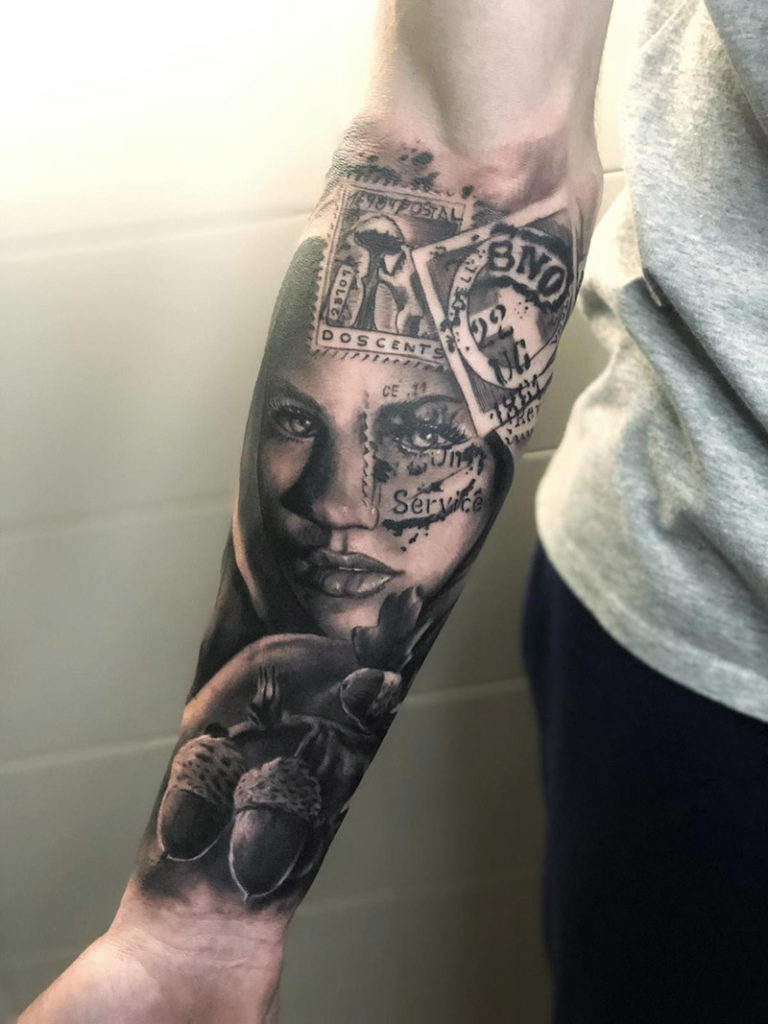 Tattoo de Rostro composicion por Cristian en Madrid Centro