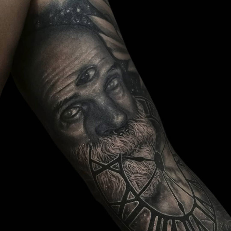 Tattoo hiperealismo retrato por David