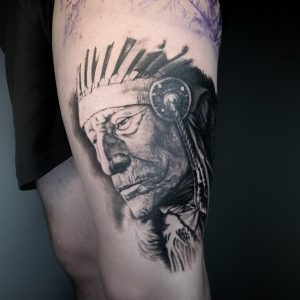 tattoo indigena realista