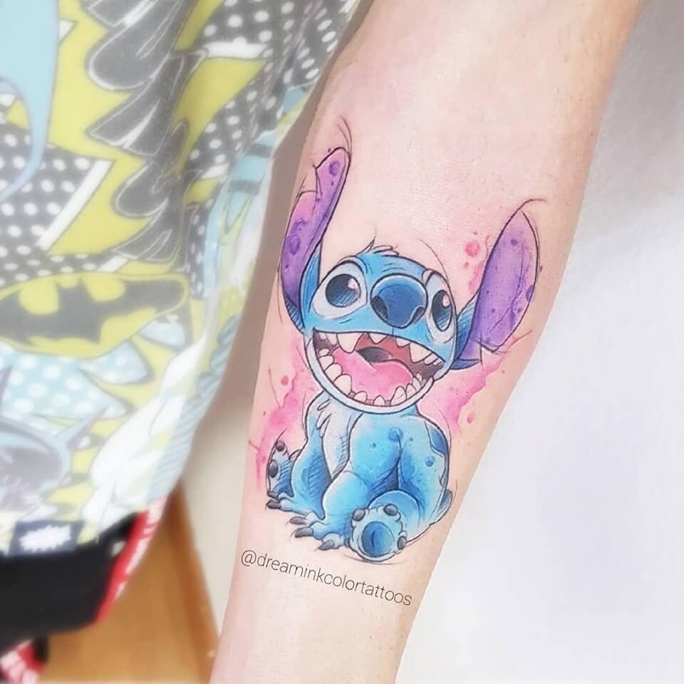 Tatuaje de Stitch de Disney en Madrid