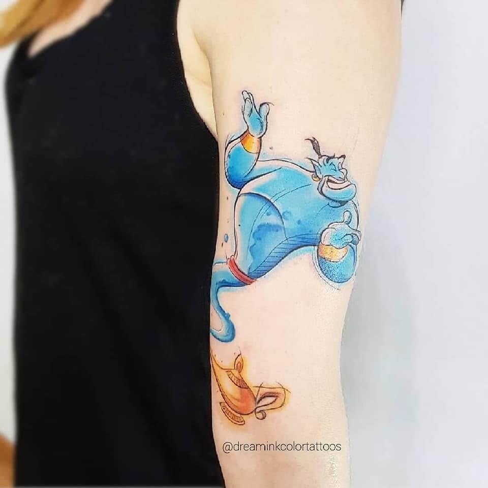 tatuajes disney de Aladdin
