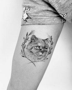 Tatuaje de Gato en Microrealismo en Madrid
