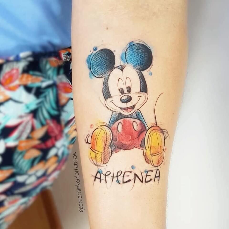 Tatuaje Mickey Disney en Madrid