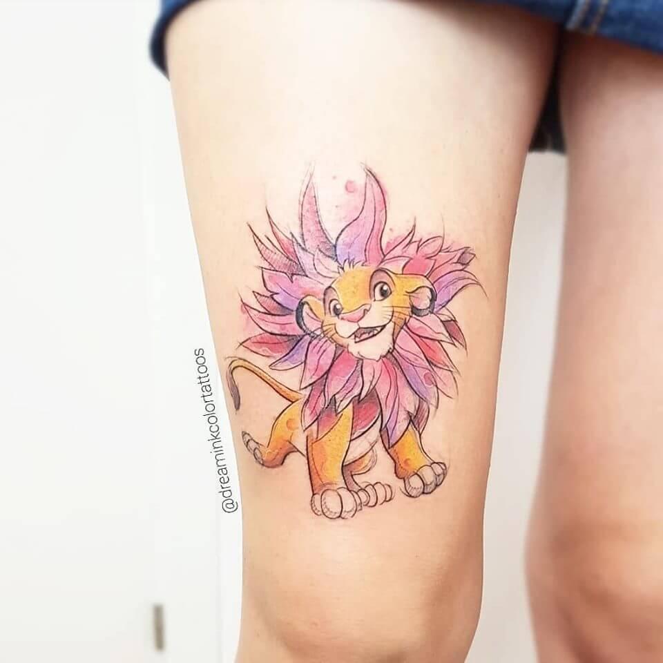 tatuaje rey leon, Disney en Baltasar Madrid