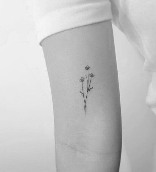 Tatuaje de Ramillete Floral, Madrid