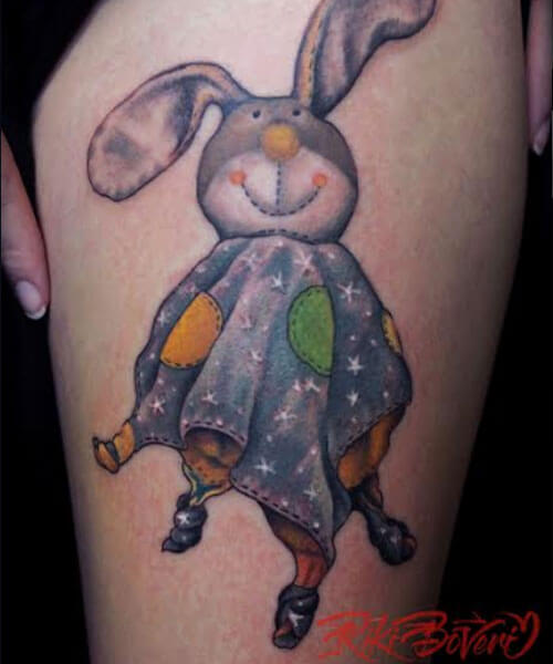 tattoo de peluche pipo