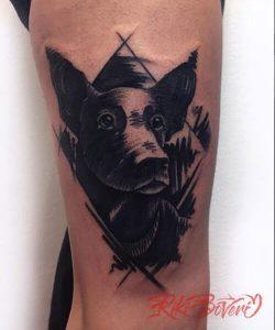Tatuaje mascota kika Madriz