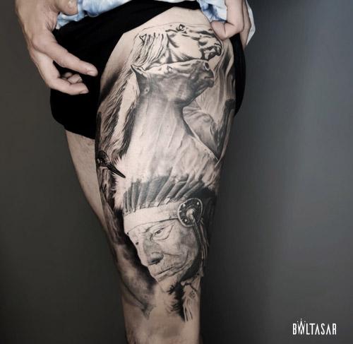 Tatuajes Realistas en Madrid de Indigena
