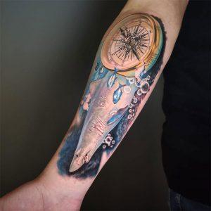 Tatuaje tiburon realista en Madrid