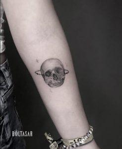 tatuaje calavera microrealista, Madrid