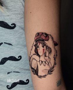 princesa de Mononoke tattoo en Madrid