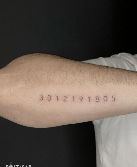 tatuaje de cordenadas madrid