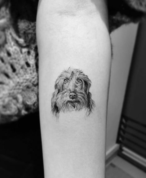 Tatuaje de Mascota en Micro Realismo hecho en Madrid