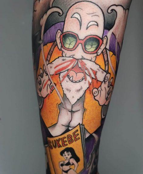 tatuaje estilo neo tradi en Madrid